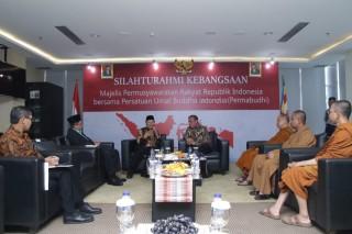 Sambangi DPP Permabudhi, Pimpinan MPR Bahas Amandemen UUD
