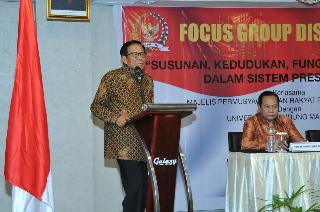 Lembaga Pengkajian MPR RI Melaksanakan Focus Group Discussion Di Golden Tulip Galaxy Hotel Banjarmasin