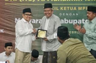 Wakil ketua MPR RI Muhaimin Iskandar Menghadiri Acara Temu Tokoh Nasional dengan PC NU Nganjuk, Jawa Timur (Minggu, 10 Februari 2019)